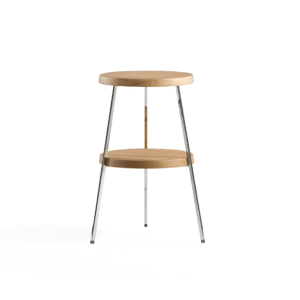 TWO-TOP Side Table (MCS-SD9167A-OAK) - Picket&Rail