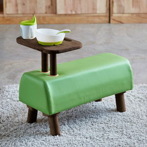 DONKEY Kids Bench with Raised Side Table (Col: Hermes Walnut (WIL-1101))