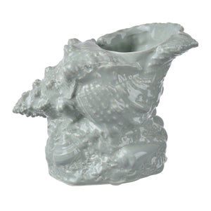 Accessories - AB-1115-GREE  CONCH SHELL PLANTER - GREEN