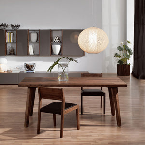 NORYA 1.6m Pencil-Legged Dining Table in American Black Walnut (NYS-KBZTL02)