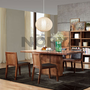 NORYA 1.6m Pedestal Dining Table in American Black Walnut (NYS-KAZTW04A) - Picket&Rail