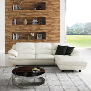 KUKA #1235 Half Leather Sofa (2+CL , Chaise Lounge)( M Series ) (I)