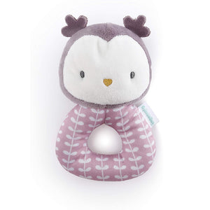 Ingenuity Premium Soft Plush Ring Rattle - Nally The Owl BS12371
