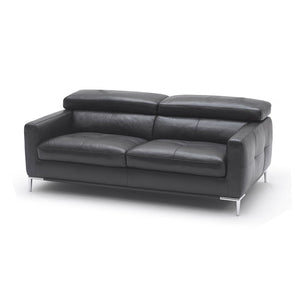 KUKA #1281 Half Leather Top Grain 3-Seater Leather Sofa ( M Series ) (I)