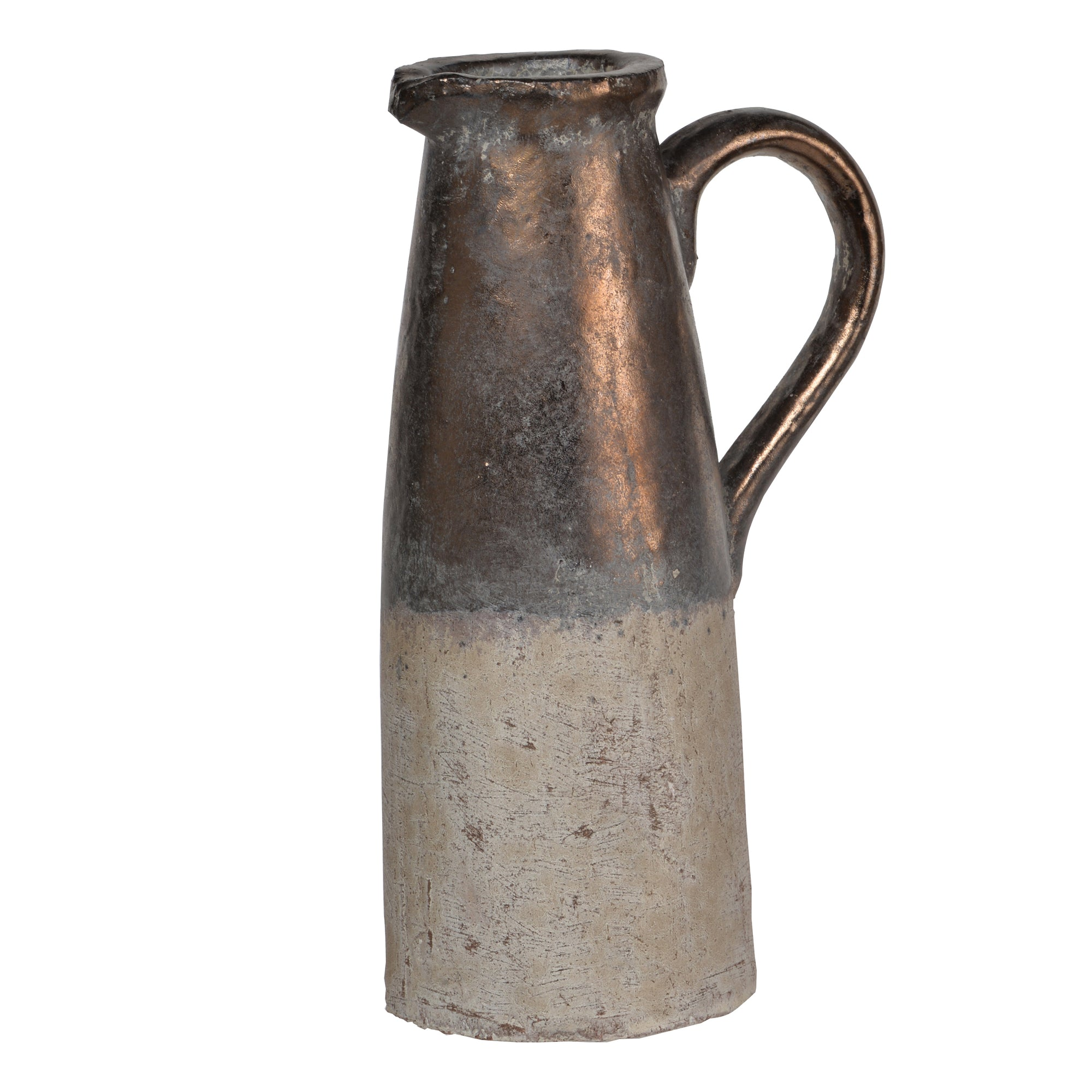 AB-1346 Candia Ceramic Pitcher, Sienna Brown