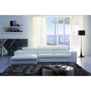 KUKA #1375 Half Leather Sofa (L shape Chaise Lounge)( M Series ) (I)