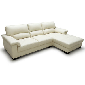 KUKA #1656  Full Leather Sofa (2+CL, Chaise Lounge)( O/NL Series )(I)