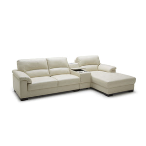 KUKA #1656 Leather Sofa (2.5-Seater, Chaise Lounge) - Picket&Rail Singapore's Premium Furniture Retailer