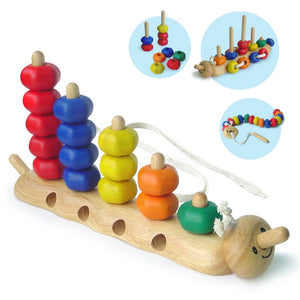 I'm Toy Sort N Lace Caterpillar Wooden Toy IM22011