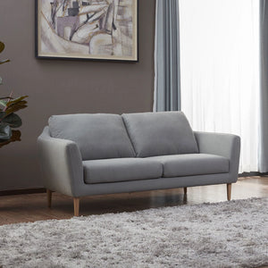 KUKA #2537 3-Seater Waterproof Fabric Sofa (Color: C-1075)