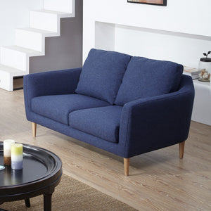 KUKA #2537 3-Seater Fabric Sofa (Color: C-297) -Blue