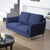 KUKA #2537 3-Seater Fabric Sofa (Color: C-297) -Blue - Picket&Rail