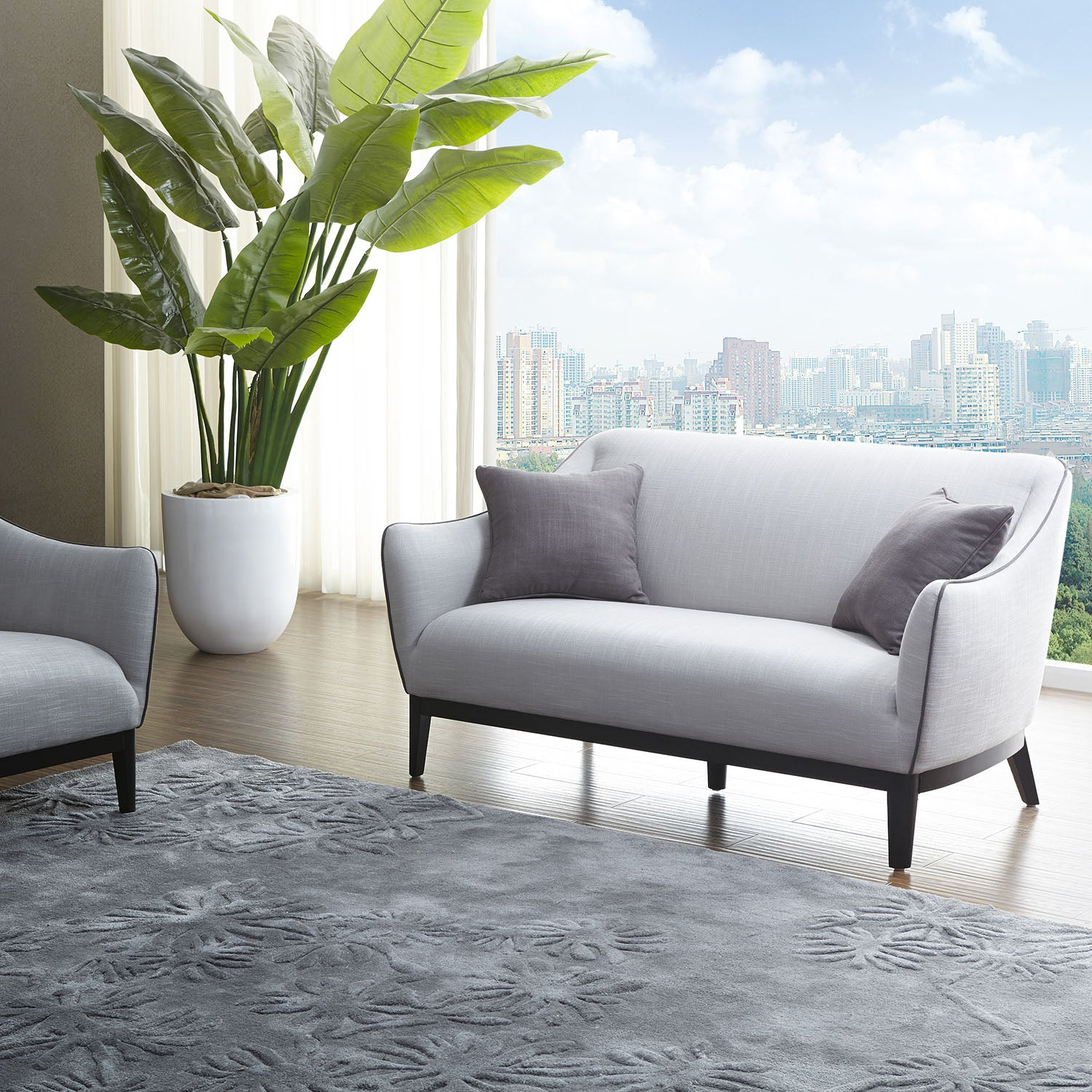 KUKA #2556 Leather/Fabric Sofa (1/2/3-Seater, Chaise Lounge) - Picket&Rail Singapore's Premium Furniture Retailer
