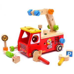 I'm Toy Fire Fighter Builder Wooden Toy IM27050