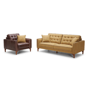 KUKA #2720 Leather Sofa (1/2/3-Seater, Ottoman) - Picket&Rail Singapore's Premium Furniture Retailer