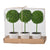 "AB-29574 CREA S/3 D3X9.5"" MINI FAUX TOPIARIES, CREAM POT"