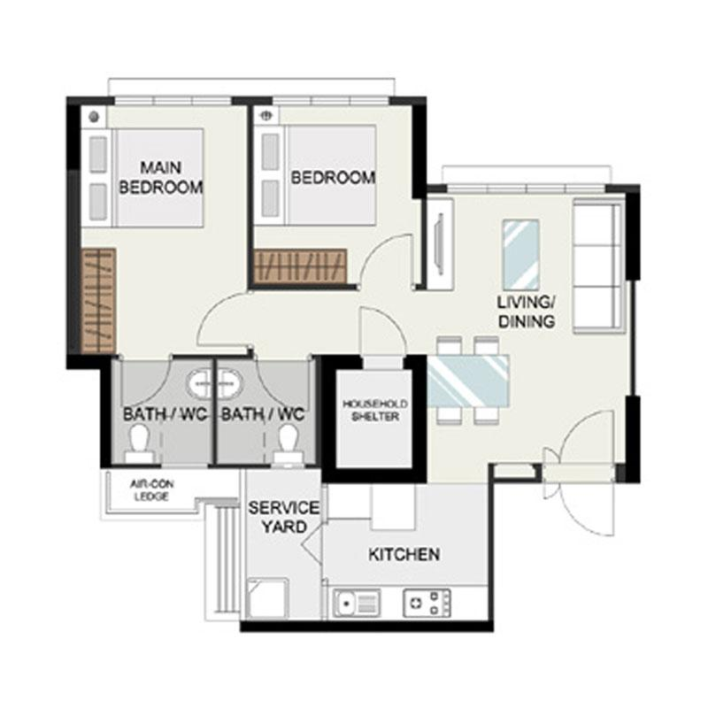 BTO 3-Room Basic Home Renovation Package - Picket&Rail