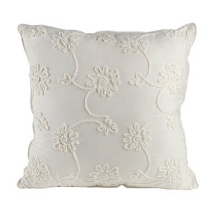 AB-31375-WHITE  Jacek Square Pillow, White