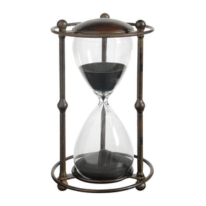 AB-32082 Hour Glass In Stand-Black