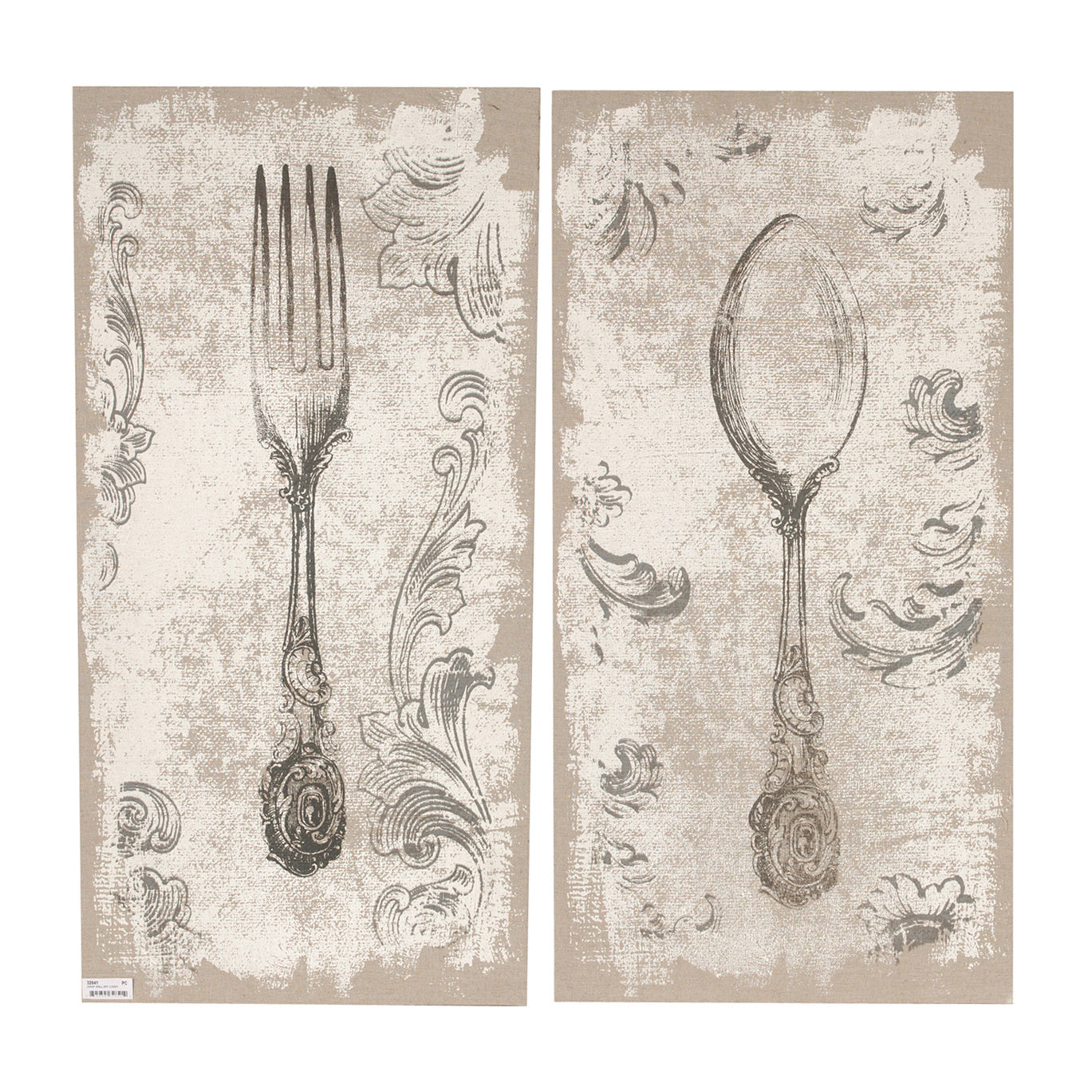 "AB-32841 S/2 20x40"" Danica Fork-and-Spoon Prints - Picket&Rail"