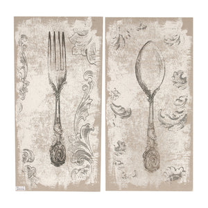 "AB-32841 S/2 20x40"" Danica Fork-and-Spoon Prints"