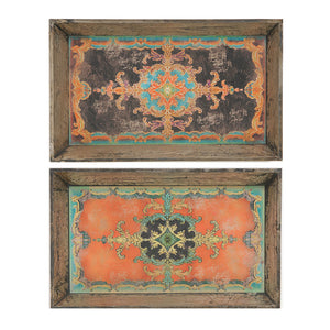 Decorative Tray Set Of 2 (AB-34131)