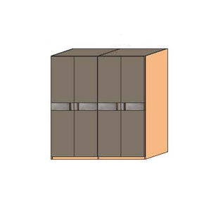 NORYA Four-Door Wardrobe in American Black Walnut KCY403