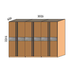 NORYA Six-Door Wardrobe in American Black Walnut KCY601