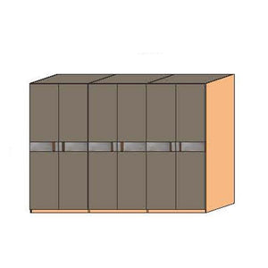 NORYA Six-Door Wardrobe in American Black Walnut KCY603