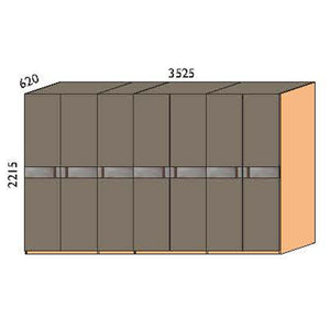NORYA Seven-Door Wardrobe in American Black Walnut KCY703