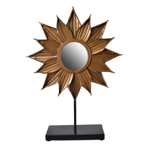 AB-41214 BRONZE STARBURST TABLE MIRROR