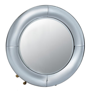 AB-44529  Silver Curved Wall Mirror