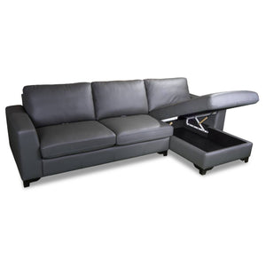 CASPER L-Shape Half Leather Sofa (5102) (I)