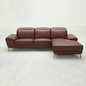 KUKA #5186 Full Top Grain Leather Sofa (3+CL , Chaise Lounge ) ( O/NL Series  )(I)