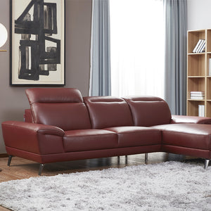 KUKA #5186 Full Top Grain Leather Sofa (2/3-Seater , Chaise Lounge ) ( M Series )(I)