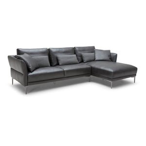 KUKA #5311 Full Leather Sofa (3+Chaise Lounge )( M Series ) (I)