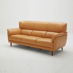 KUKA #5371 Half Leather Top Grain  Leather Sofa (1/2/ 3-Seater ,Ottoman ) ( M Series ) (I)