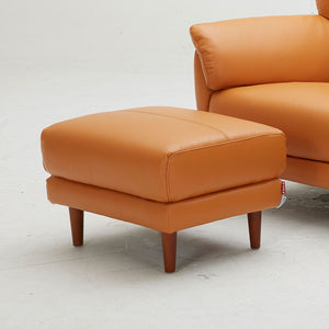 KUKA #5371 Top Grain Leather Ottoman (Color: M5658) - Picket&Rail