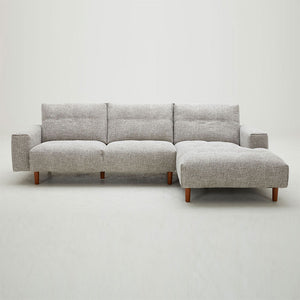 KUKA #5508 L-Shaped Fabric Sofa (Color: C1010)