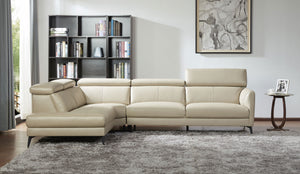 KUKA #5608 Top Grain L-Shaped Corner Sofa (Color: NL5115)