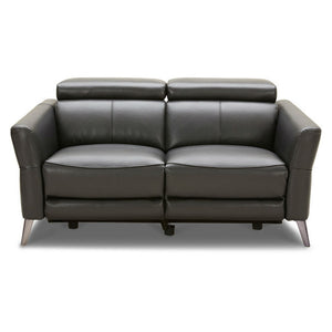 KUKA #5650 Half Leather Top Grain Recliner Leather Sofa (1/2/ 3-Seater ,Ottoman ) ( O/NL Series ) (I)