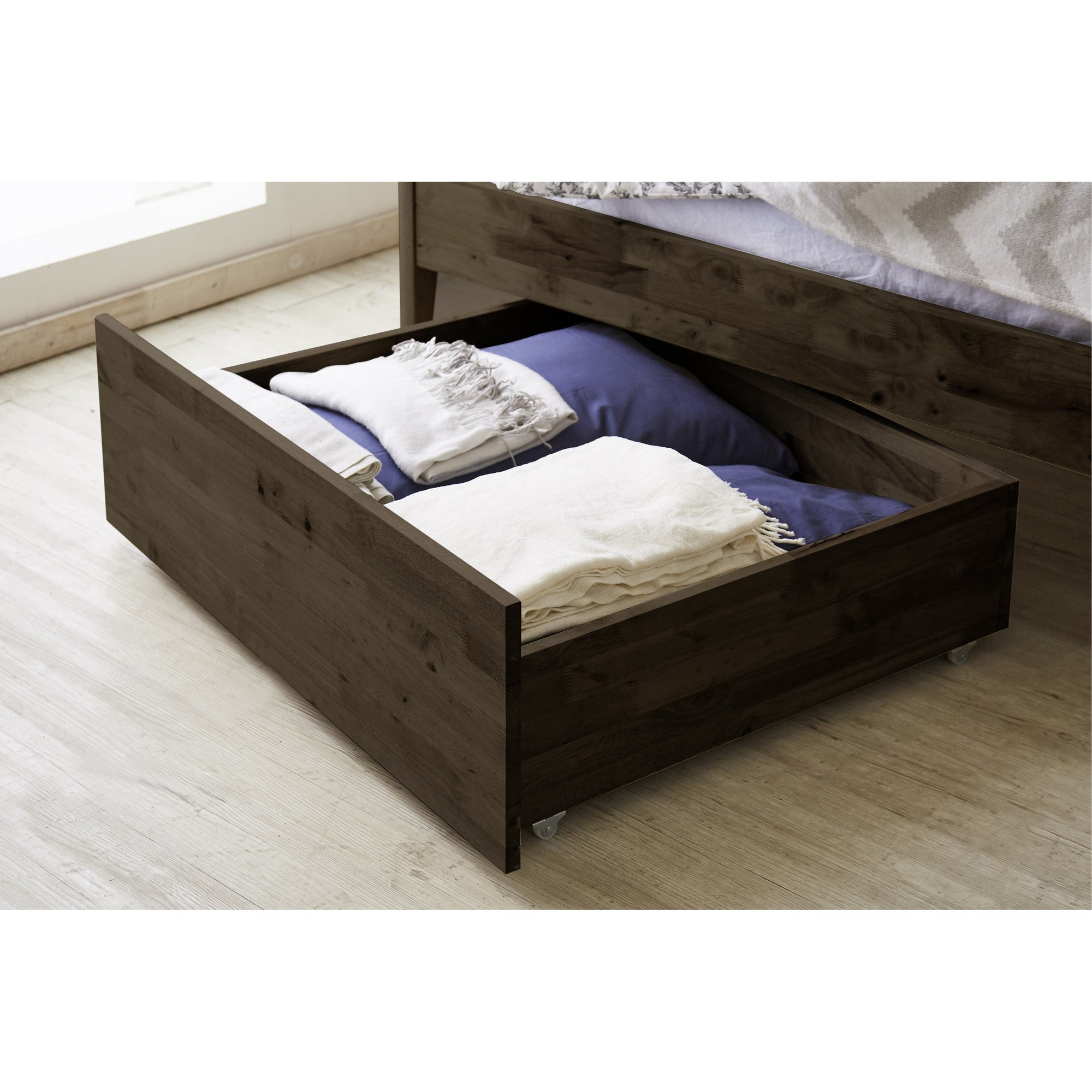 AMERICANA II Under Bed Movable Solid Wood Storage Drawer Trundle (WIL-7106)