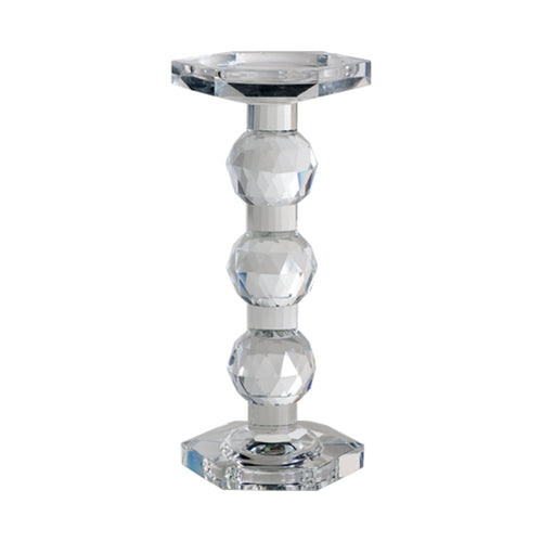 AB-72603  Sylvie Lead Crystal Pillar Candle Holder, Tall