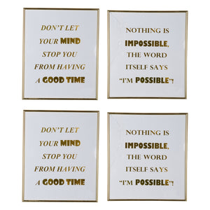 AB-76348 MINDFUL SAYINGS WALL ART,LARGE