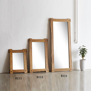Americana Solid Wild Almond Wood Rectangular Mirror (WIL-8113)
