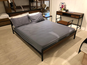 Manolo Industrial-styled Bedframe (8172Q) - Picket&Rail Singapore's Premium Furniture Retailer