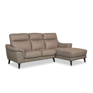 ELLIOT L-Shaped Half Leather Sofa (8295) (I)