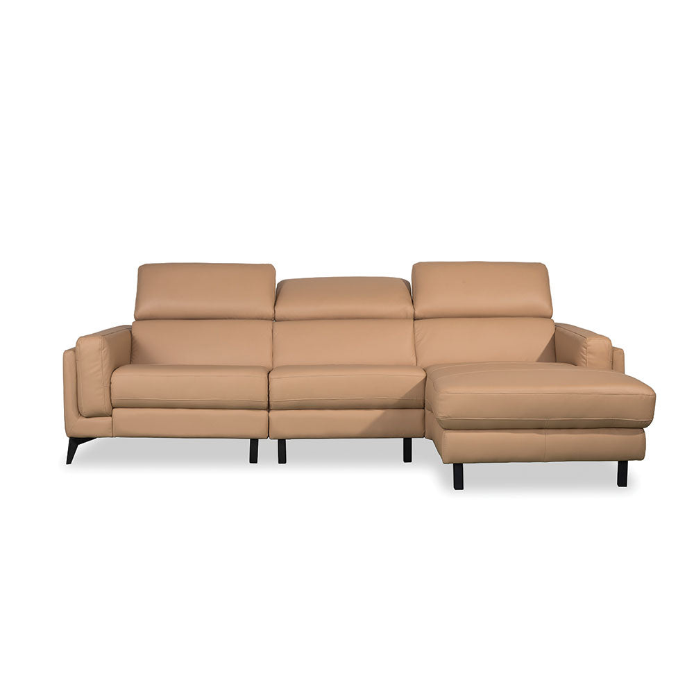 ISABELLE Half Leather 3+Chaise L-Shaped Sofa (8308) (I)