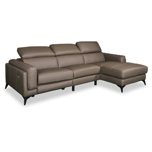 ISABELLE Full Leather 3+Chaise L-Shaped Sofa (8308) (I)