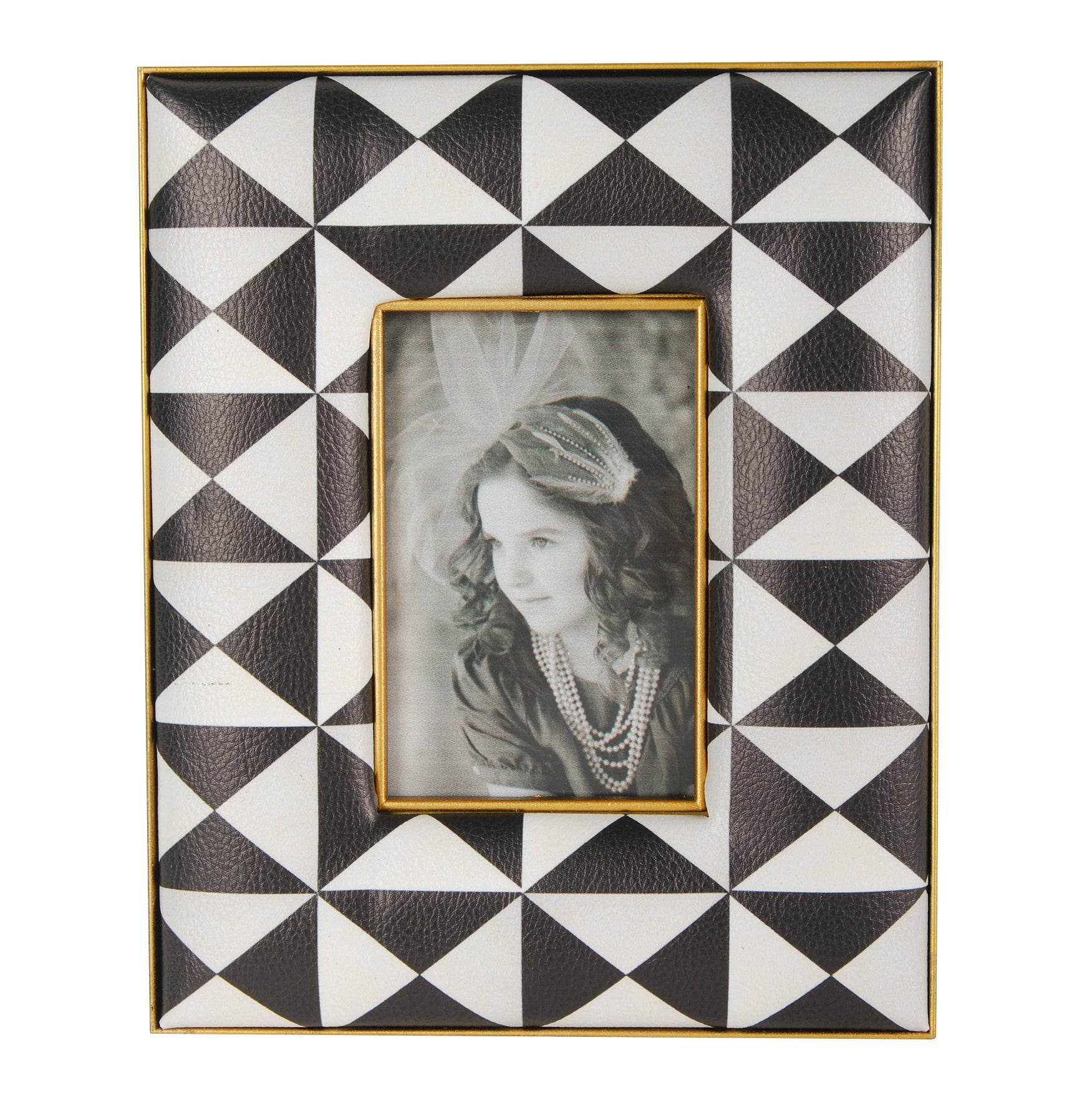 AB-AV37929 Geometric Printed Frames, Small - Picket&Rail